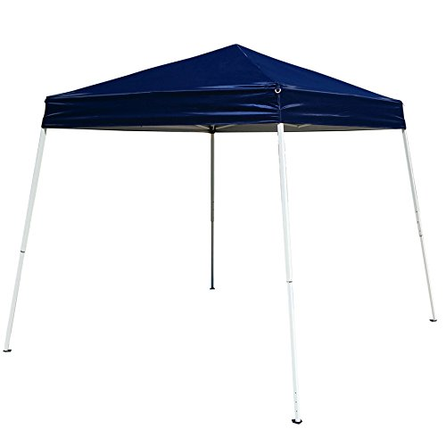Z ZTDM 8.2′ x 8.2′ Blue Easy Pop-Up Instant Canopy Tent Event Gazebo Party Folding Portable Shelter Slant Leg-with Carrying Bag (Event Canopy 8.2′ x 8.2′)