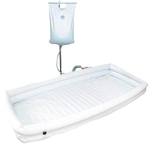 XIHAA PVC Medical Adult Inflatable Disabled Bathtub, Bath in Bed Assistive aid, with Inflator+Shower Bag + Inflatable Pillow, for Injured, Disabled, Elderly ()