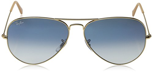 Aviator Gradient Lunettes 55 Gold Soleil Crystal de mm Blue Aviator Ban Light Metal RB3025 Ray gwaUHU