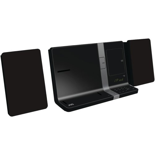 JVC UXVJ3B iPad/iPod/iPhone Mini System 30-Watt Dual Dock