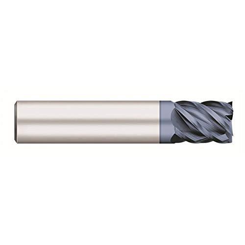 RedLine Tools 3.0000 OAL .5000 5 Flute 1.2500 LOC .0400 Radius 1//2 AlTiN Coated Round Shank Type RE20632 Single End Corner Radius Carbide End Mill