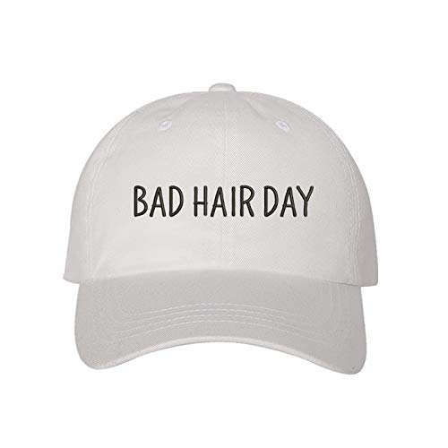 - Prfcto Lifestyle Bad Hair Day Dad hat- White Baseball Cap- Unisex