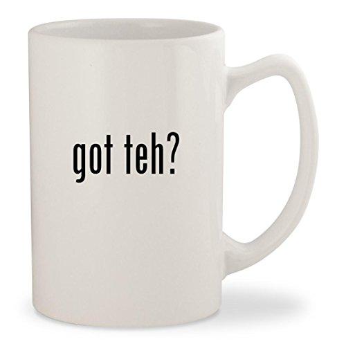got teh? - White 14oz Ceramic Statesman Coffee Mug Cup