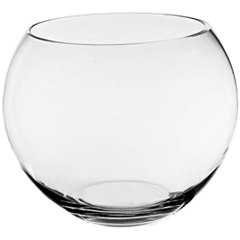 Amazon Com Round Glass Floral Bowl 4⅞ Quot Wide 3⅞ Quot Home