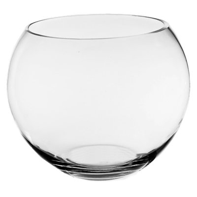 CYS EXCEL Glass Bubble Bowl, Fish Bowl, Globe Vase Center Piece, Round Flower Vase, Pack of 1 (4.5