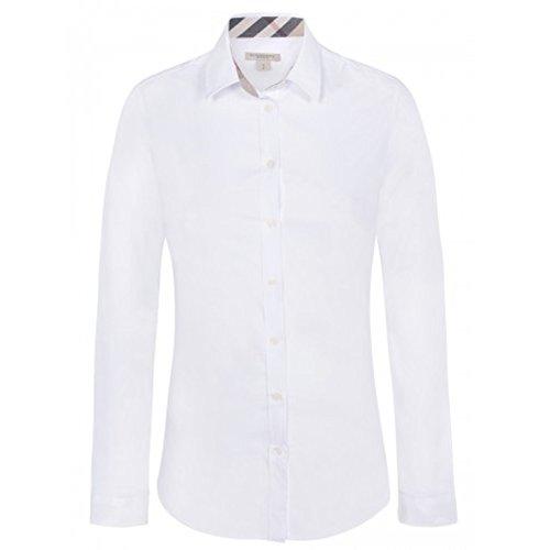 Burberry Herren Poloshirt, einfarbig weiß Bianco Medium