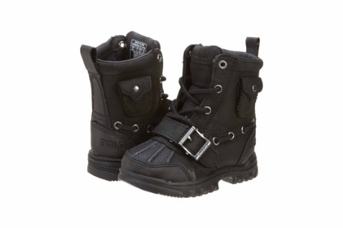 Polo Ralph Lauren (GS) Grade School Black Hamlin Lace-Up Boot 97131 (7) by Polo