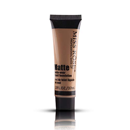 MISS ROSE Brand Foundation Base Matte Liquid Concealer Maquiagem Pore Covers Face Whitening Liquid Foundation Oil Control Cream (BEIGE05)
