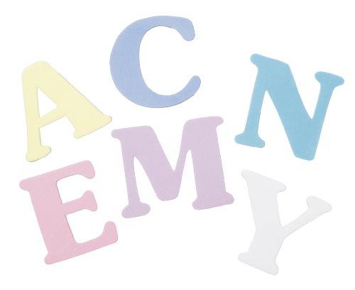 Darice 106-1319 200-Pack Foamies Alphabet Sticker Bag, Memoir Font, 2-Inch