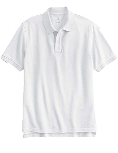 (Men's Short Sleeve Tailored Banded Mesh Polo Shirt by Lands' End. Size: XXL White )