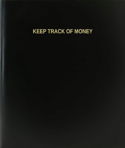 BookFactory® Keep Track Of Money Log Book / Journal / Logbook - 120 Page, 8.5''x11'', Black Hardbound (XLog-120-7CS-A-L-Black(Keep Track Of Money Log Book)) by BookFactory