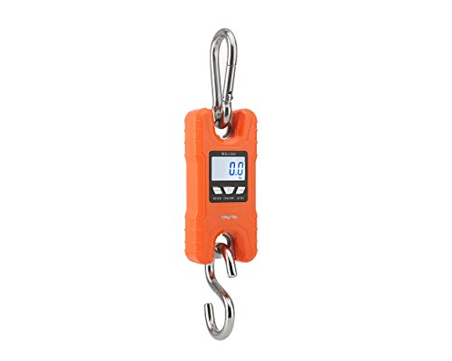 Heavy Duty Hanging Scale - Mini Crane Scale,Klau Portable 500 kg / 1000 lb Heavy Duty Digital Hanging Scales LCD Display with Backlight for Home Farm Market Fishing Hunting Orange