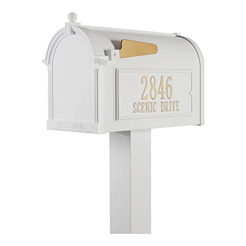 (Whitehall Products Premium Mailbox Package - White,)