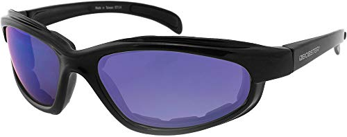 Bobster Fatboy Sunglasses with Black Frame and Smoked Lenses, Black Gloss ()