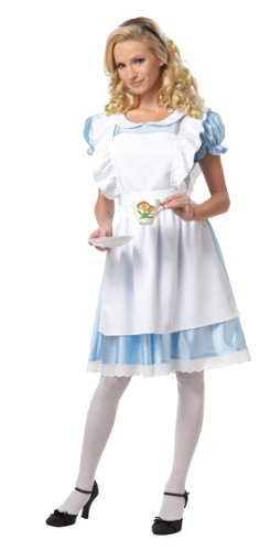 California Costumes Women's Alice Costume,White/Blue,Large