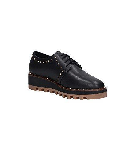 jo mujer de Piel cordones negro negro para liu Zapatos de 1aAqq