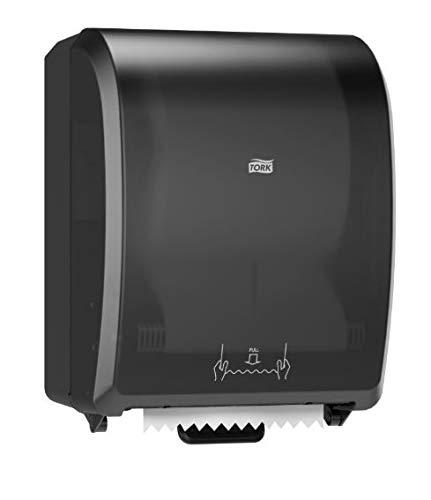 Tork 772828 Mechanical Hand Towel Roll Dispenser, Black, 12.3'' x 9.3'' x 16'', Replaces the Wausau Paper 86800 Dispenser