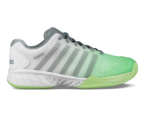 K-Swiss Women s Hypercourt Express Tennis Shoe (White Paradise Green Abyss 87625da00