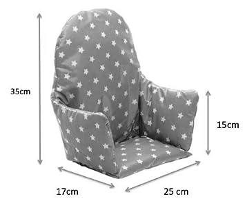 Amazon.com: IKEA ANTILOP Trona inserto de cojín. Fácil de ...