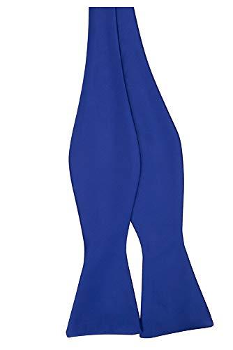 Jacob Alexander Men's Self Tie Freestyle Solid Color Bowtie - Royal ()
