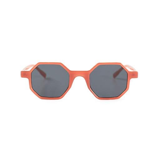 NIFG protección irregulares de Polygon de anaranjadas sol moda la de retras Gafas de de caja sol Gafas UV la la de wTrAxwBq