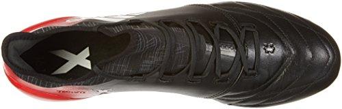 adidas X 16.1 Leather Fg, Zapatillas de Fútbol para Hombre Negro (C Black/ftw White/red)
