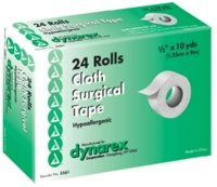 Cloth Surgical Tape - 1/2 Inches X 10 Yds, (Box of 24 RL)