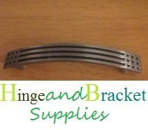 Hinge and Bracket Supplies Kitchen Cabinet Bow Handle Antique Pewter 96Mm CC 120Mm Oeverall Length by Hinge and Bracket Supplies