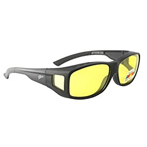 Fit Over Night Vision Glasses Polarized to Wear Over Glasses + car clip holder