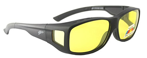 Fit Over Night Vision Glasses Polarized to Wear Over Glasses + car clip - You Your Wear Glasses Sunglasses Over