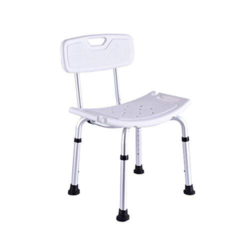 ZWJ-JJ Taburete de ducha Bano Caja de movilidad reducida ajustable telesilla bano puede con respaldo del asiento del bano banco de ducha silla de bano heces, cuarto de bano
