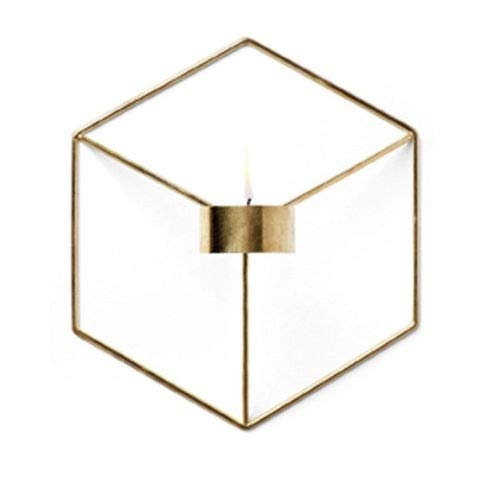 Sunm Boutique 3D Geometric Candleholder, Wall-Mounted Metal Candleholder, Wall Ornaments