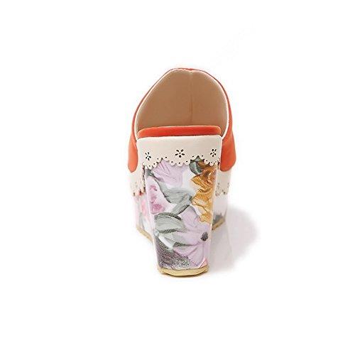 AdeeSu - Zapatos con tacón mujer naranja