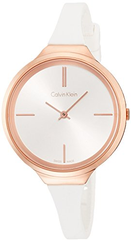 Calvin Klein K4U236K6 Ladies Lively White Silicone Strap Watch