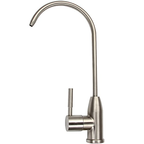 brushed nickel drinking faucet - 9