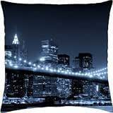 brooklyn bridge in monochrome - Throw Pillow Cover Case (18