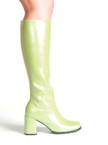 3 Inch Gogo Boots Women'S Size Shoe With Zipper (Green;7)
