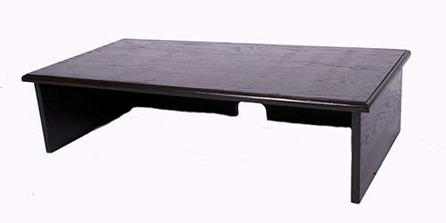 XX-Large Black TV Riser - Technology Oak Stand Wood Tv