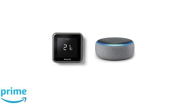 Echo Dot gris oscuro + Honeywell T6 - Termostato programable inteligente Wifi cableado: Amazon.es: Bricolaje y herramientas