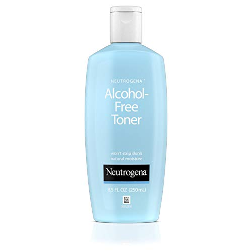 Neutrogena Oil- and Alcohol-Free Facial Toner, with Hypoallergenic Formula, 8.5 fl. oz (Best Drugstore Toner For Acne Prone Skin)