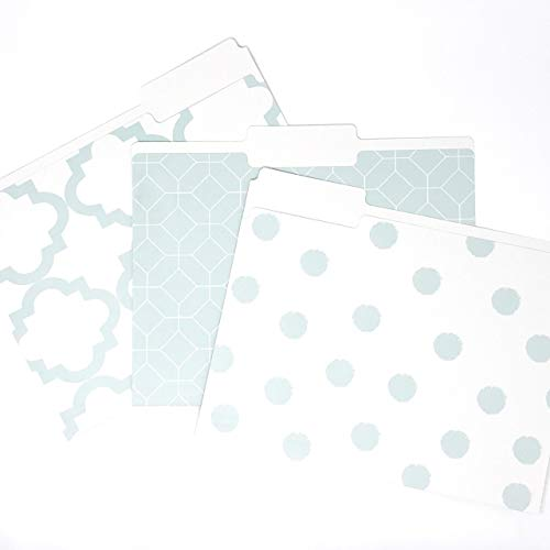 Set of 9 Designer File Folders with a Smooth Matte Finish, 9.5 x 11.75 inches by Kahootie Co. (Teal (Designer Colors File Folder)