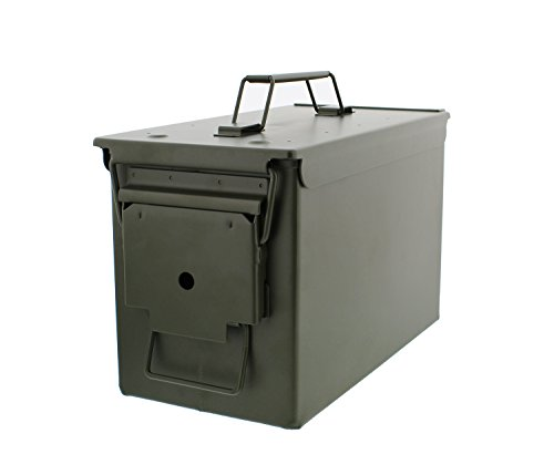 Redneck Convent Metal Ammo Case Can – Military and Army Solid Steel Holder Box for Long-Term Shotgun Rifle Nerf Gun Ammo Storage