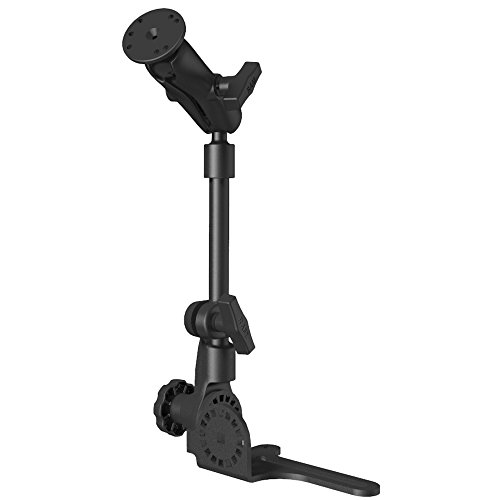 RAM Universal No-Drill RAM POD HD Vehicle Mount with Double Socket Arm & 2.5'' Round Base AMPs Hole Pattern by RAM MOUNTS