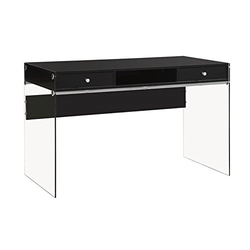 Coaster 800830 Home Furnishings Desk, Glossy Black