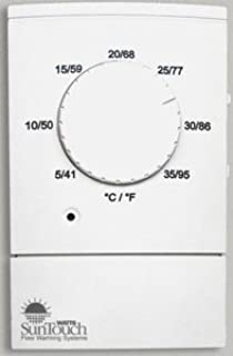 SunTouch Dial Non Programmable Floor Heat Thermostat 120/240 Dual Voltage GFCI