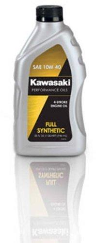 4 Oil Synthetic Motor Stroke (Kawasaki 4-Stroke Full Synthetic Motorcycle Oil 10W40 1 Quart)