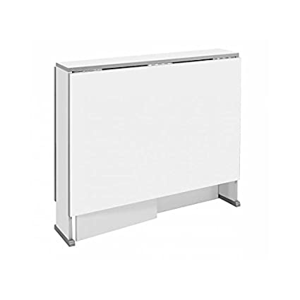 Mesa cocina plegable con dos alas en color blanco: Amazon.es: Hogar