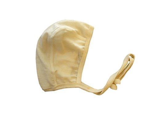 - Iobio Hat MERINO WOOL SILK baby newborn bonnet beige organic (3-6 Months)