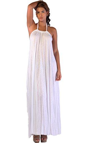 Ingear Tent Maxi Dress (L/XL, White)