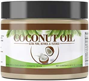 Coconut Oil (16 oz) by Pure Organic Ingredients, Ultra Pure, Refined, Filtered, Food Grade, Non-Hydrogenated, No Coconut Flavor or Scent, Non-GMO
